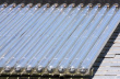 solar-energy-water-heating-glass tube on house roof